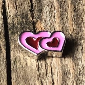 Two Hearts Floating Charm for Living Locket